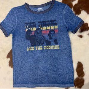 LIKE NEW Star Wars Han Solo/Chewbacca T-Shirt